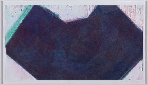 Sin título, 2017. Acrílico, gouache, laca y tinta sobre papel. 171,5 x 294,5 cm