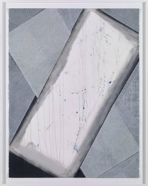 Sin título, 2017. Acrílico, gouache, laca y tinta sobre papel. 174,5 x 137 cm