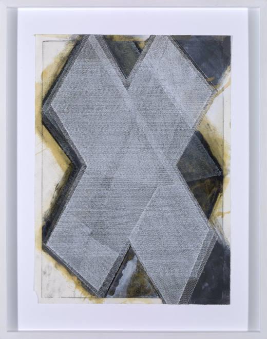 Sin título, 2017. Acrílico, gouache, laca y tinta sobre papel. 58 x 46 cm