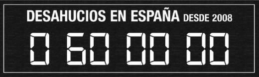 Contador de deshaucios, 2019. 80 x 190 cm. Única © Cortesía Galería Helga de Alvear y Santiago Sierra
