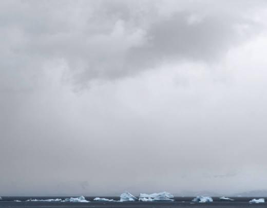 Gerlache Strait, Atarctic, 2017. Inkjet print. 157 x 257 cm. Cortesía del artista y Galería Helga de Alvear, Madrid @ Axel Hütte