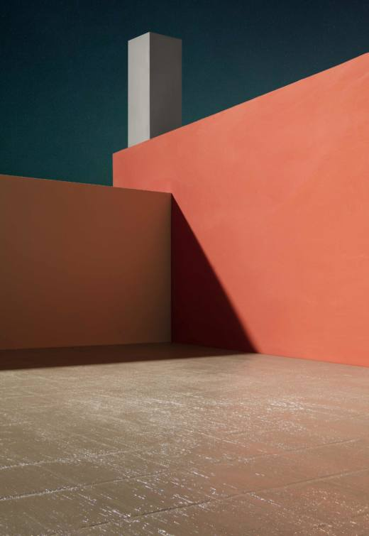 Courtyard with Orange Wall, 2017. Archival pigment print. 163,5 x 112,7 cm