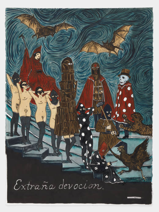 Strange Devotion, 2017. Watercolour, graphite and ink on paper. 76,2 x 57,2 cm