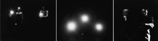 Bewusstseinserweiterung I, 1986. Tríptico, fotografía en b/n papel baritado. 80 x 320 cm