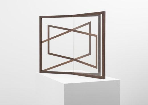 Mutual II, 2015. UV-digitalprint on glass, wood. 68 x 79 x 56 cm
