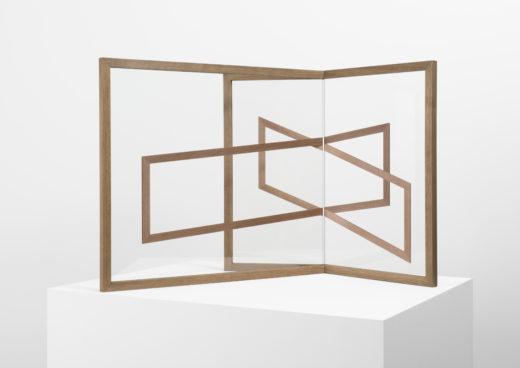 Mutual III, 2015. UV-digitalprint on glass, wood. 64 x 80 x 65 cm