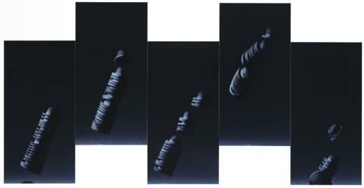 Phantomempfindung, 1992. 5 papeles, C-print. 180 x 90 (x5)