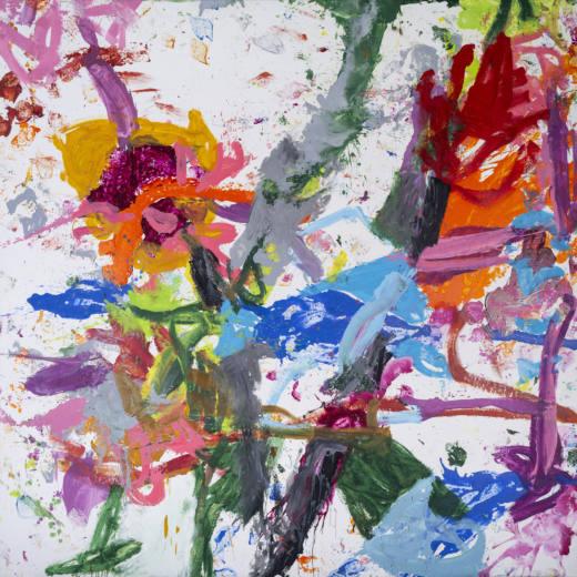 Doble vida, 2020. Oil on canvas, 300 x 300 cm