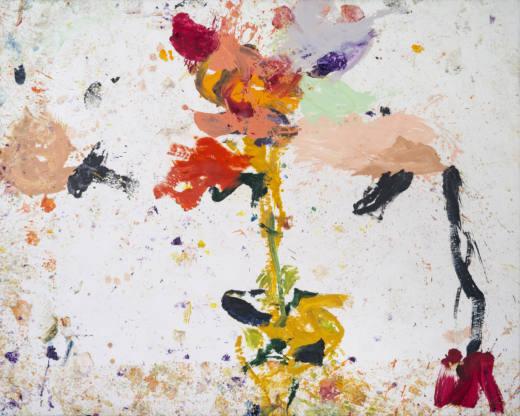 El eco de las flores II, 2020. Oil on canvas, 200 x 250 cm