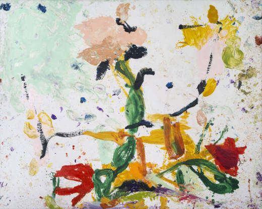 El eco de las flores III, 2020. Oil on canvas, 200 x 250 cm