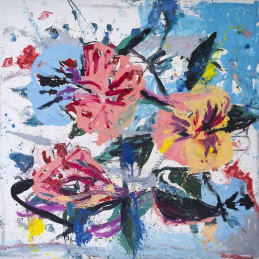 El embrujo metílico, 2020. Oil on canvas, 300 x 300 cm