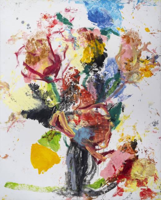Miss Ikebana II, 2020. Oil on canvas, 200 x 160 cm