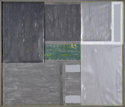 AMTN I, 2019. Técnica mixta sobre cartulinas metalizadas. 173 x 203 x 7 cm