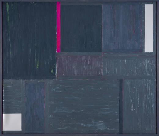 AMTN III, 2019. Técnica mixta sobre cartulinas metalizadas. 173 x 203 x 7 cm