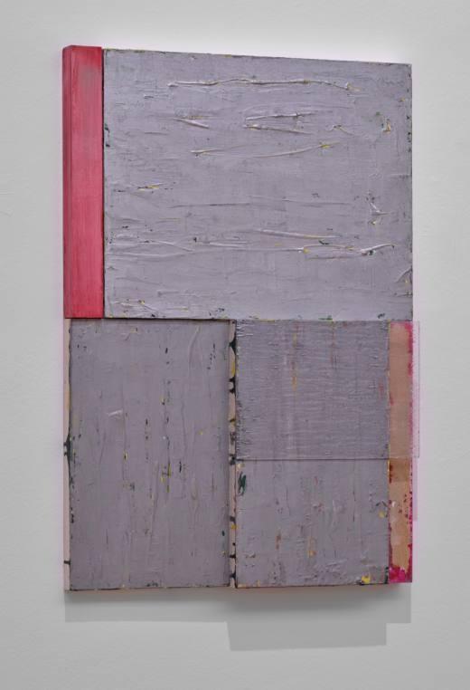 B 2, 2020. Técnica mixta sobre madera y policarbonato transparente. 80 x 55 x 7 cm