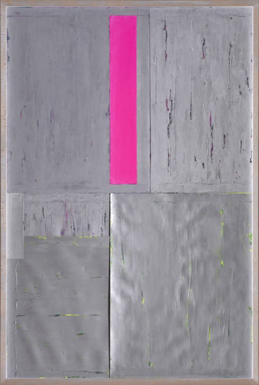 ERTA III, 2019. Técnica mixta sobre cartulinas metalizadas. 134 x 90 x 7 cm